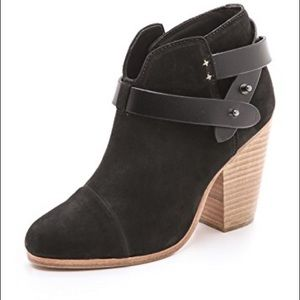 Rag&Bone Harrow bootie black wood heel 40 9.5 9